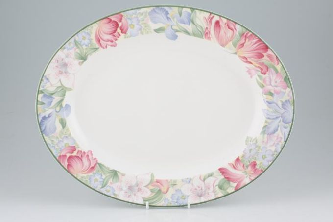 "Royal Albert Fonteyn Oval Plate / Platter 13 3/4"""