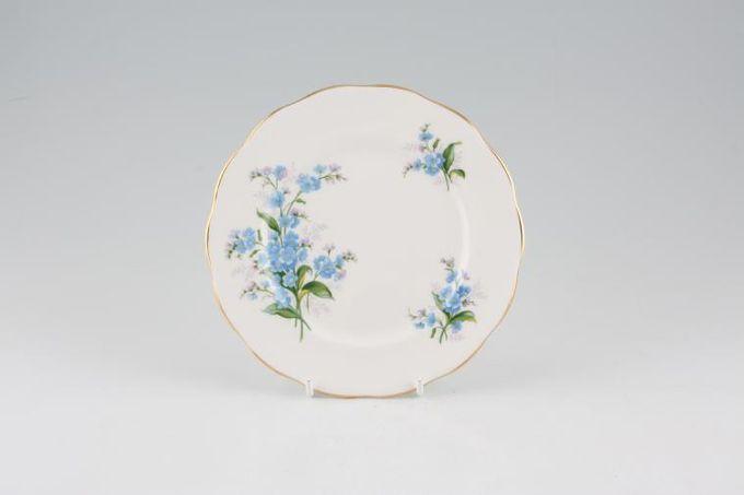"Royal Albert Forget-me-Not Tea / Side / Bread & Butter Plate Wavy Rim 6 3/8"""
