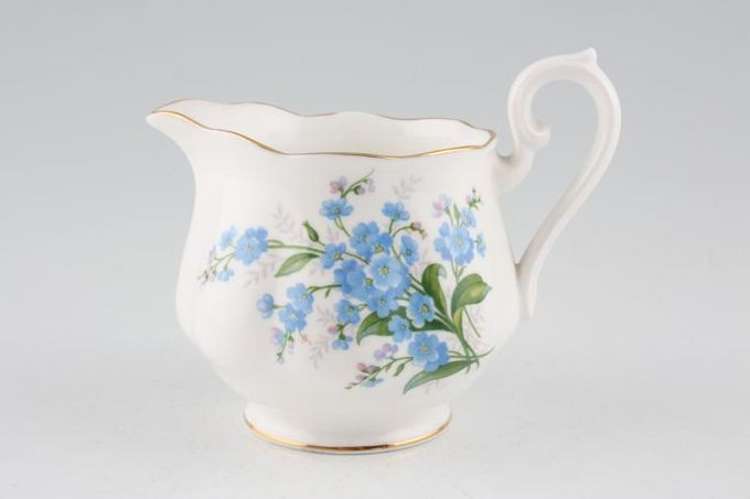 Royal Albert Forget-me-Not Milk Jug fluted 1/2pt