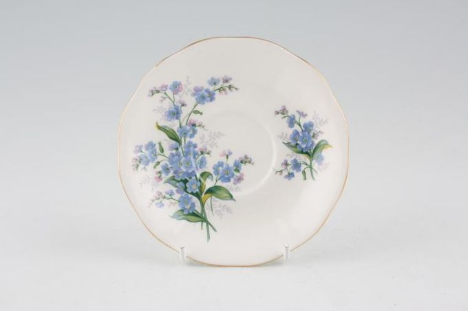 Royal Albert Forget-me-Not Coffee Saucer 4 7/8""