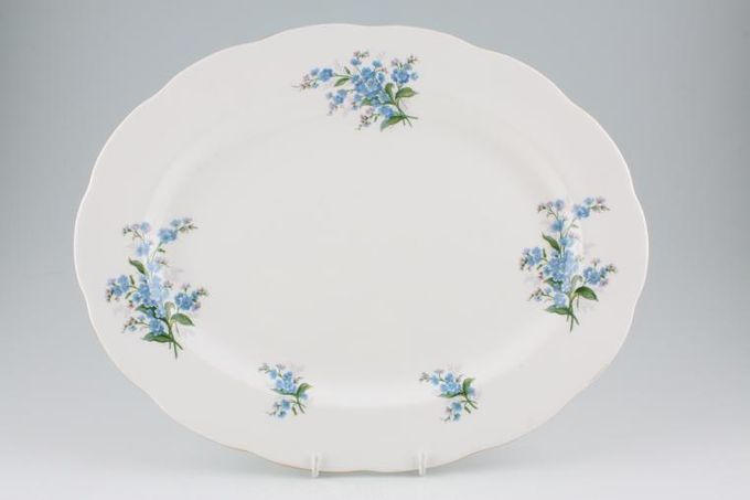 """Royal Albert Forget-me-Not Oval Plate / Platter 15"""""""