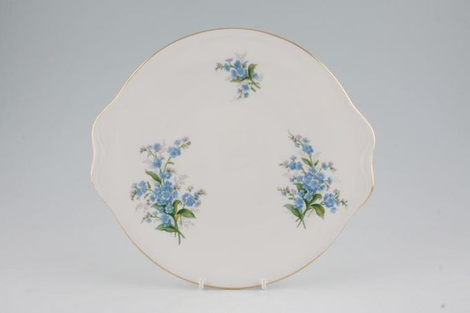 Royal Albert Forget-me-Not Cake Plate Smooth Rim 9 1/2""