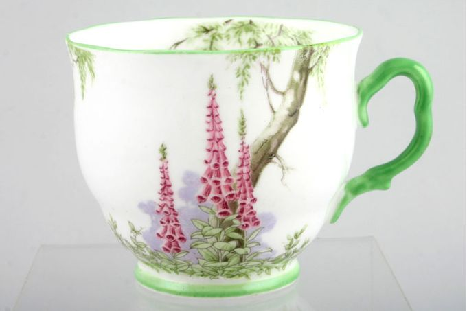 "Royal Albert Foxglove Teacup green edge 3 x 2 3/4"""