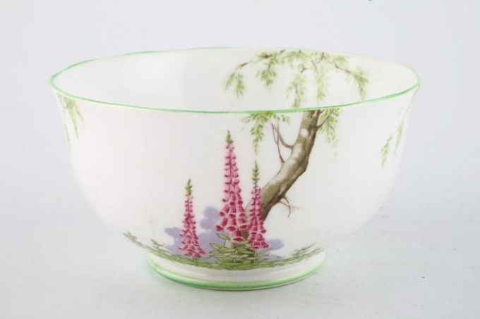 "Royal Albert Foxglove Sugar Bowl - Open (Tea) green edge 4 3/4 x 2 3/4"""