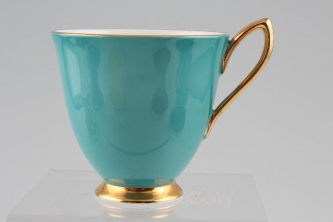 """Royal Albert Gaiety Coffee Cup Turquoise 3 x 2 3/4"""""""