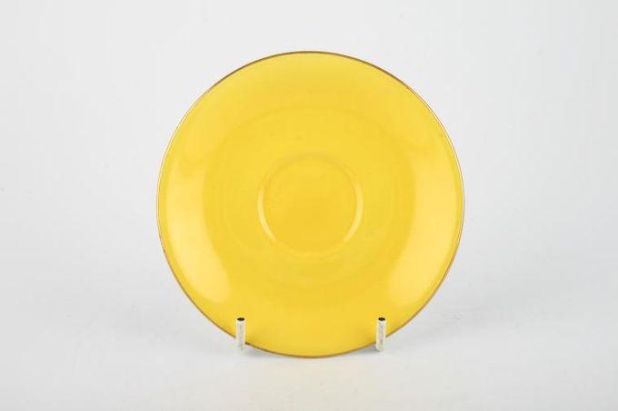 "Royal Albert Gaiety Coffee Saucer Yellow 4 7/8"""