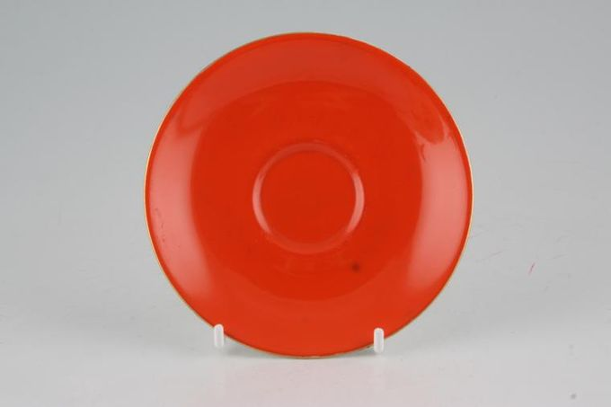 Royal Albert Gaiety Coffee Saucer Orange 4 7/8""