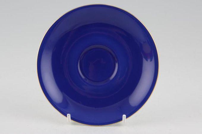 "Royal Albert Gaiety Coffee Saucer Blue 4 7/8"""