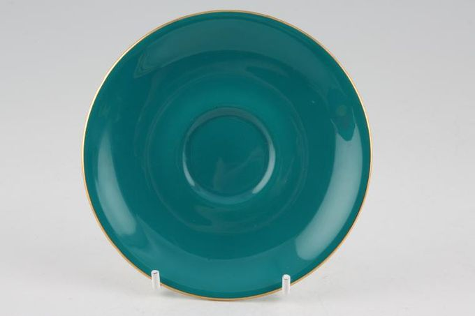 Royal Albert Gaiety Coffee Saucer Turquoise 4 7/8""