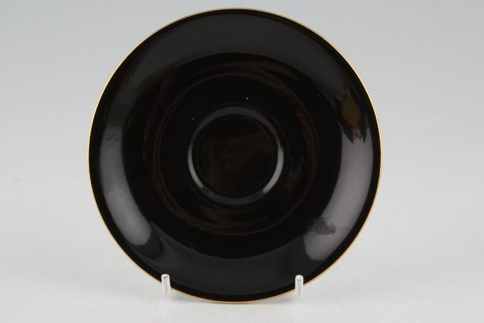 Royal Albert Gaiety Coffee Saucer Black 4 7/8""