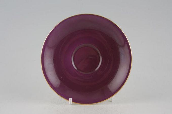 "Royal Albert Gaiety Coffee Saucer Purple 4 7/8"""