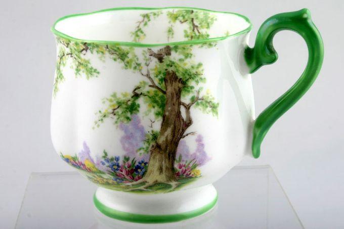 "Royal Albert Greenwood Tree - Green Edge Teacup Hampton shape 2 3/4 x 2 5/8"""