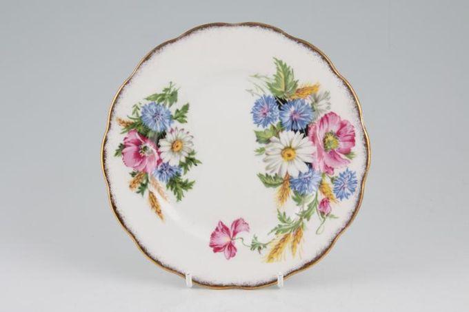 "Royal Albert Harvest Bouquet Tea / Side / Bread & Butter Plate Frosted gold rim 6 1/2"""