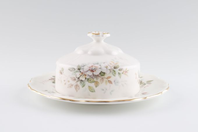 Royal Albert Haworth Butter Dish + Lid Round
