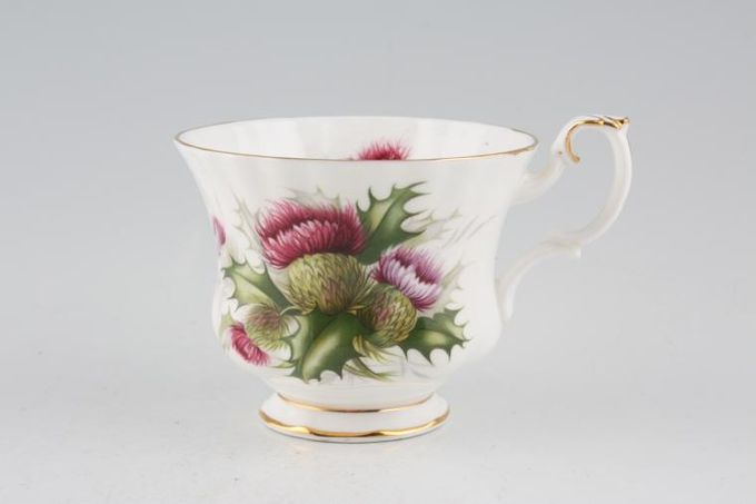 "Royal Albert Highland Thistle Teacup 3 1/2 x 2 3/4"""