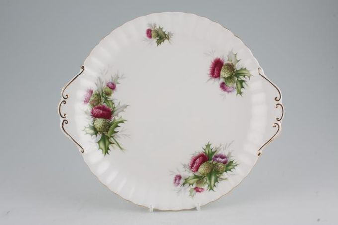 Royal Albert Highland Thistle Cake Plate Round