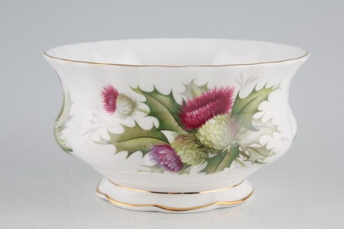 "Royal Albert Highland Thistle Sugar Bowl - Open (Tea) 4 3/8"""