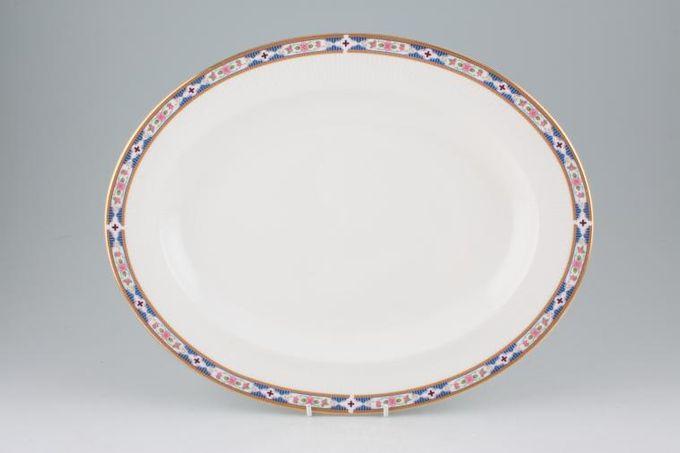 "Royal Albert Hyde Park Oval Plate / Platter 13 3/4"""