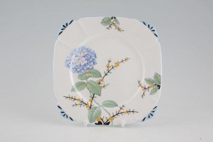 "Royal Albert Hydrangea Tea / Side / Bread & Butter Plate Square 6 1/4"""