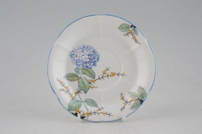 "Royal Albert Hydrangea Tea Saucer 5 5/8"""