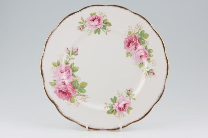 Royal Albert American Beauty Dinner Plate smaller floral pattern 10 1/4""