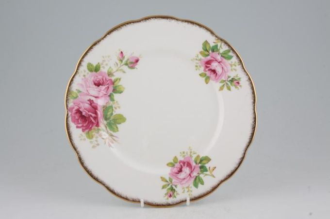 Royal Albert American Beauty Breakfast / Salad / Luncheon Plate larger floral pattern 9""