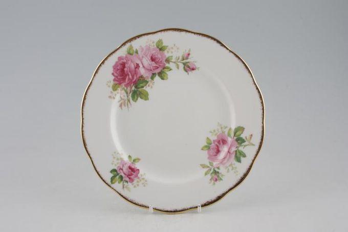 "Royal Albert American Beauty Starter / Salad / Dessert Plate smaller floral pattern 8"""
