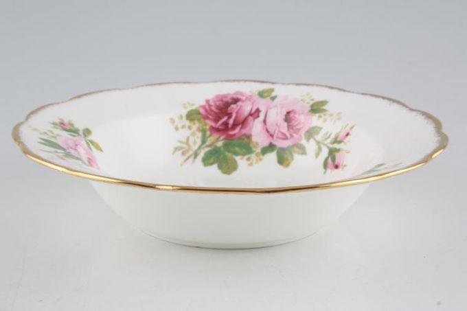 "Royal Albert American Beauty Rimmed Bowl smaller floral pattern 8"""