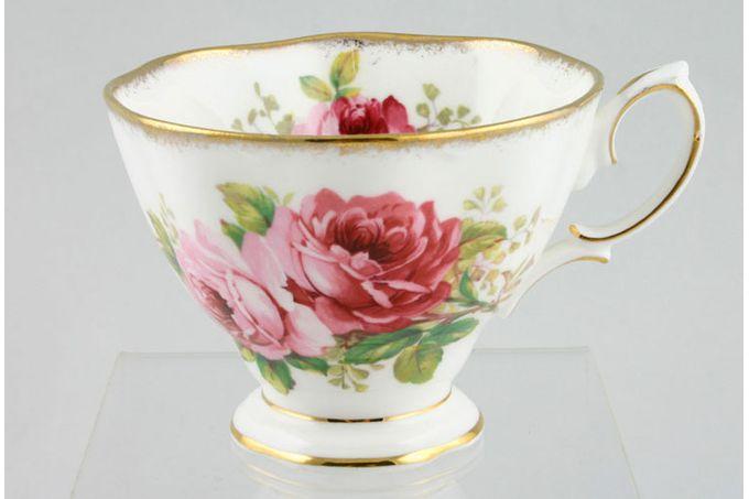 "Royal Albert American Beauty Teacup like 50p shape 3 1/2 x 2 5/8"""