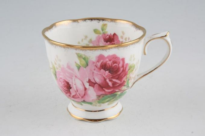 Royal Albert American Beauty Teacup Larger Flower - 2 Gold Lines on Foot 3 1/4 x 2 3/4""