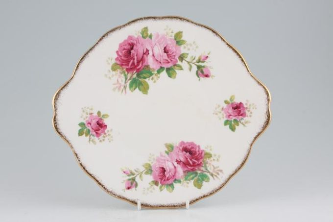 Royal Albert American Beauty Cake Plate larger floral pattern (round) 9 7/8""