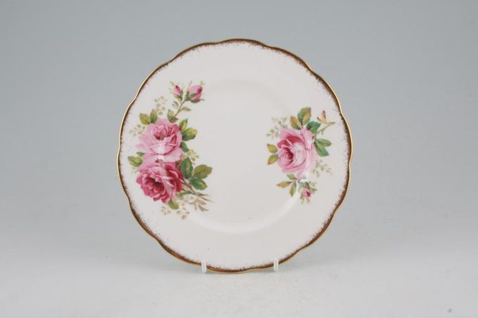 Royal Albert American Beauty Tea / Side / Bread & Butter Plate larger floral pattern 7""
