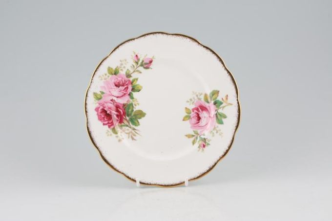 Royal Albert American Beauty Tea / Side / Bread & Butter Plate larger floral pattern 6 1/4""