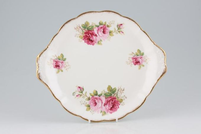 Royal Albert American Beauty Cake Plate smaller floral pattern (round) 10 1/2""