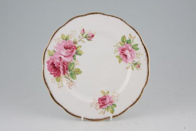 "Royal Albert American Beauty Dessert / Salad Plate larger floral pattern 8"""