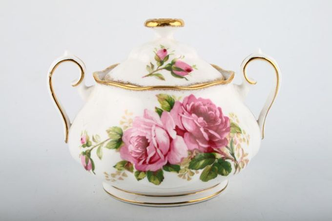 Royal Albert American Beauty Sugar Bowl - Lidded (Tea) 2 handles