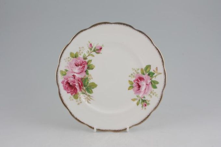 "Royal Albert American Beauty Tea / Side / Bread & Butter Plate smaller floral pattern. 7"""