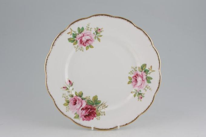 Royal Albert American Beauty Breakfast / Salad / Luncheon Plate Smaller Floral Pattern 9 3/8""