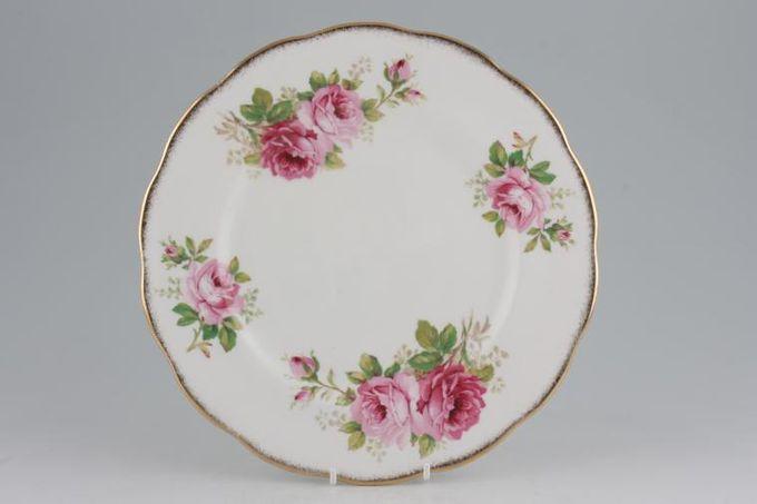 "Royal Albert American Beauty Dinner Plate Larger Floral Pattern 10 1/4"""
