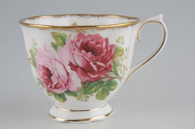 Royal Albert American Beauty Teacup Smaller Flower - 2 Gold Lines on Foot 3 1/4 x 2 3/4""