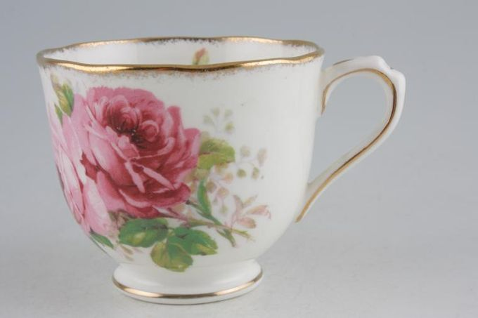 "Royal Albert American Beauty Teacup 1 Gold Line on Foot 3 1/8 x 2 5/8"""