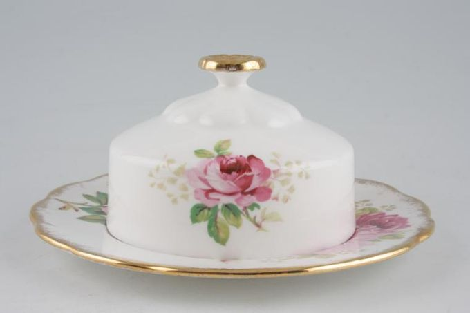 "Royal Albert American Beauty Muffin Dish + Lid Use 6 1/4"" Plates as base 6 1/4"""