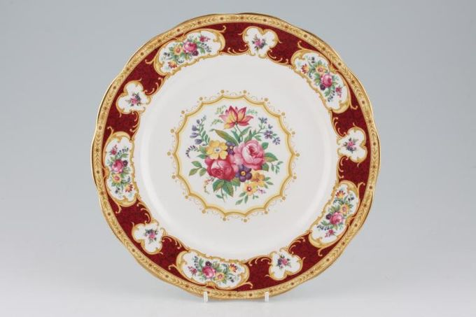 Royal Albert Lady Hamilton Dinner Plate Note; Shades may vary on all items in this pattern. 10 1/4""
