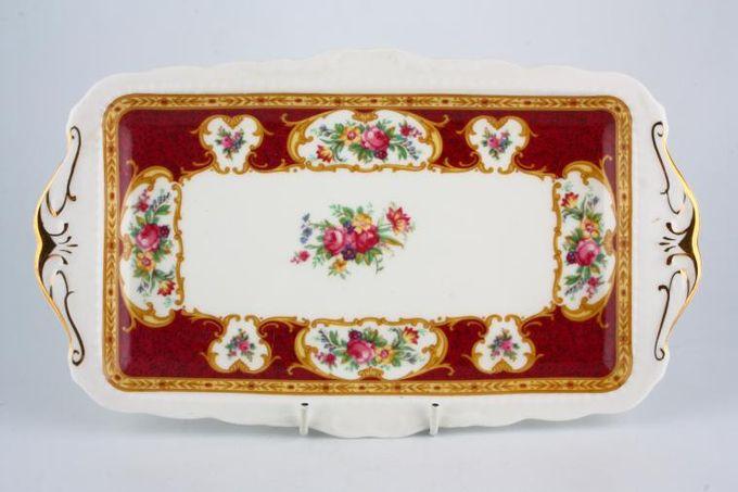 "Royal Albert Lady Hamilton Sandwich Tray 11 1/2"""
