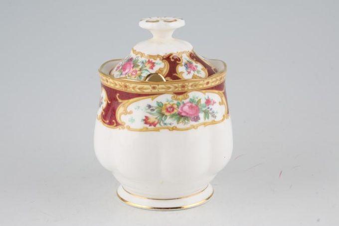 Royal Albert Lady Hamilton Jam Pot + Lid Cut out in Lid