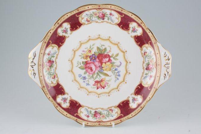 "Royal Albert Lady Hamilton Cake Plate Eared 10 3/8"""