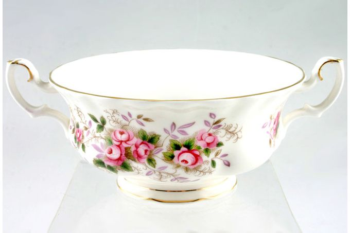 Royal Albert Lavender Rose Soup Cup 2 Handles 6""