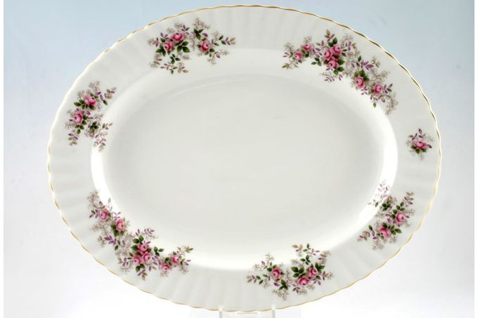 Royal Albert Lavender Rose Oval Plate / Platter 13 3/4""