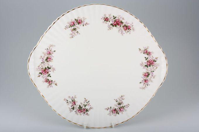"Royal Albert Lavender Rose Gateau Plate Eared.4 small feet 13 3/4"""