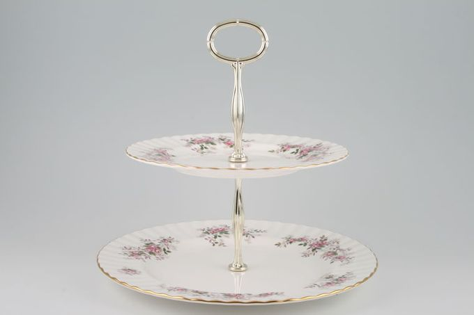 Royal Albert Lavender Rose Cake Stand 2 tier 10 1/2 x 8 1/4""